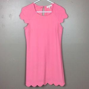Monteau Pink Scalloped Hem Spring Dress XS